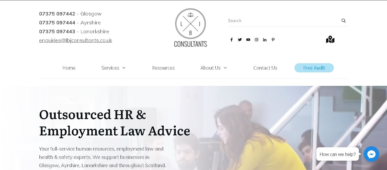 Slick website design for an HR outsourcing company